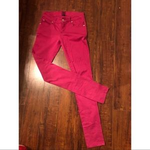 Pink Tripp skinny jeans - skull accents - size 1